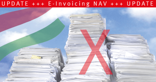 Hungarian Tax Authority NAV - important changes of XML version 3.0 as of 01.01.2021