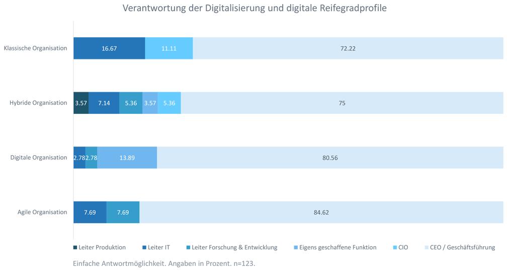 Verantwortung der Digitalisierung und digitale Reifegradprofile